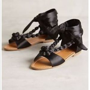 Anthropologie Satin Sandals